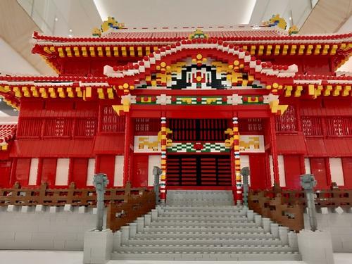 世界中でここでしか見れない【特大LEGO首里城】