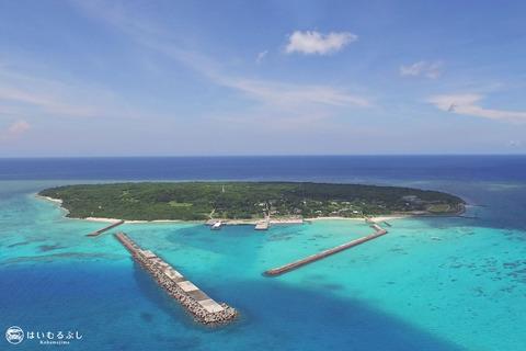 鳩間島とバラス島